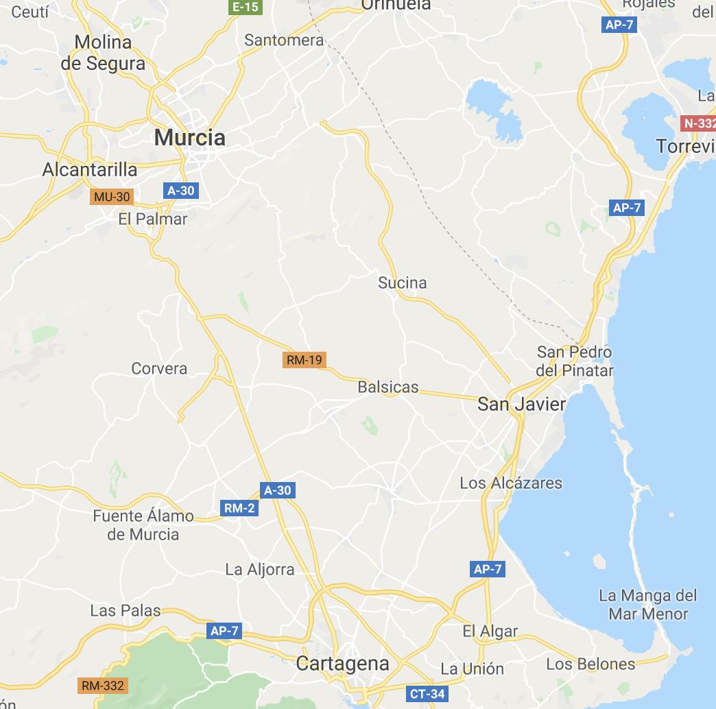 Costa Cálida - Waar vind je het terug op de kaart?