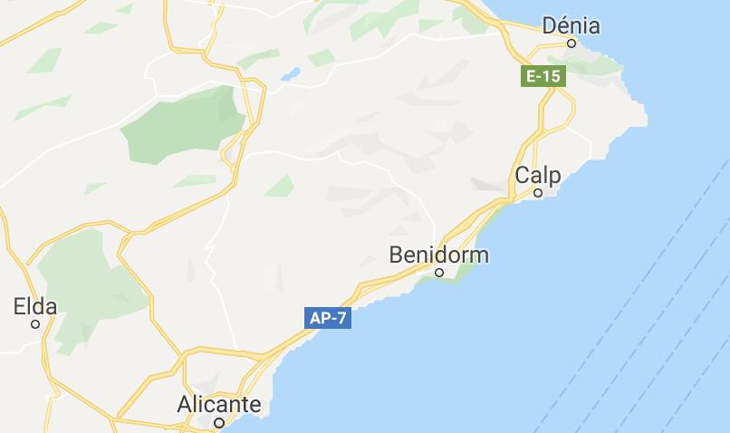 Costa Blanca Noord - Waar vind je het terug op de kaart?