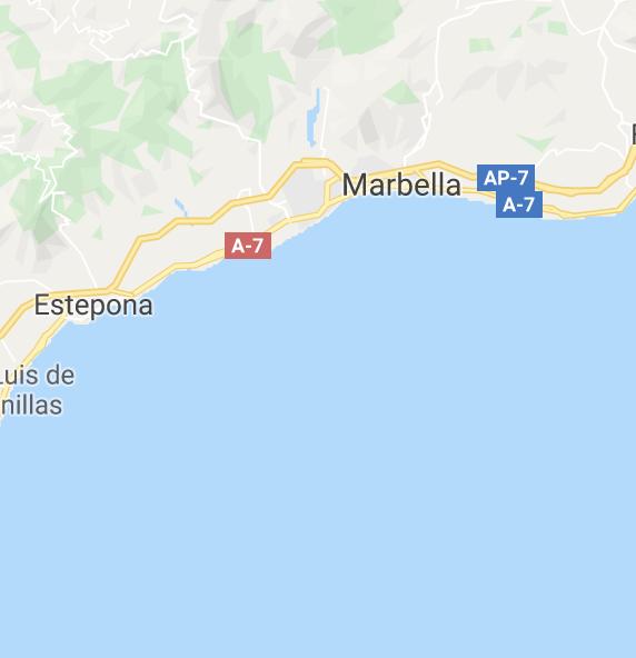 Costa del Sol - Waar vind je het terug op de kaart?